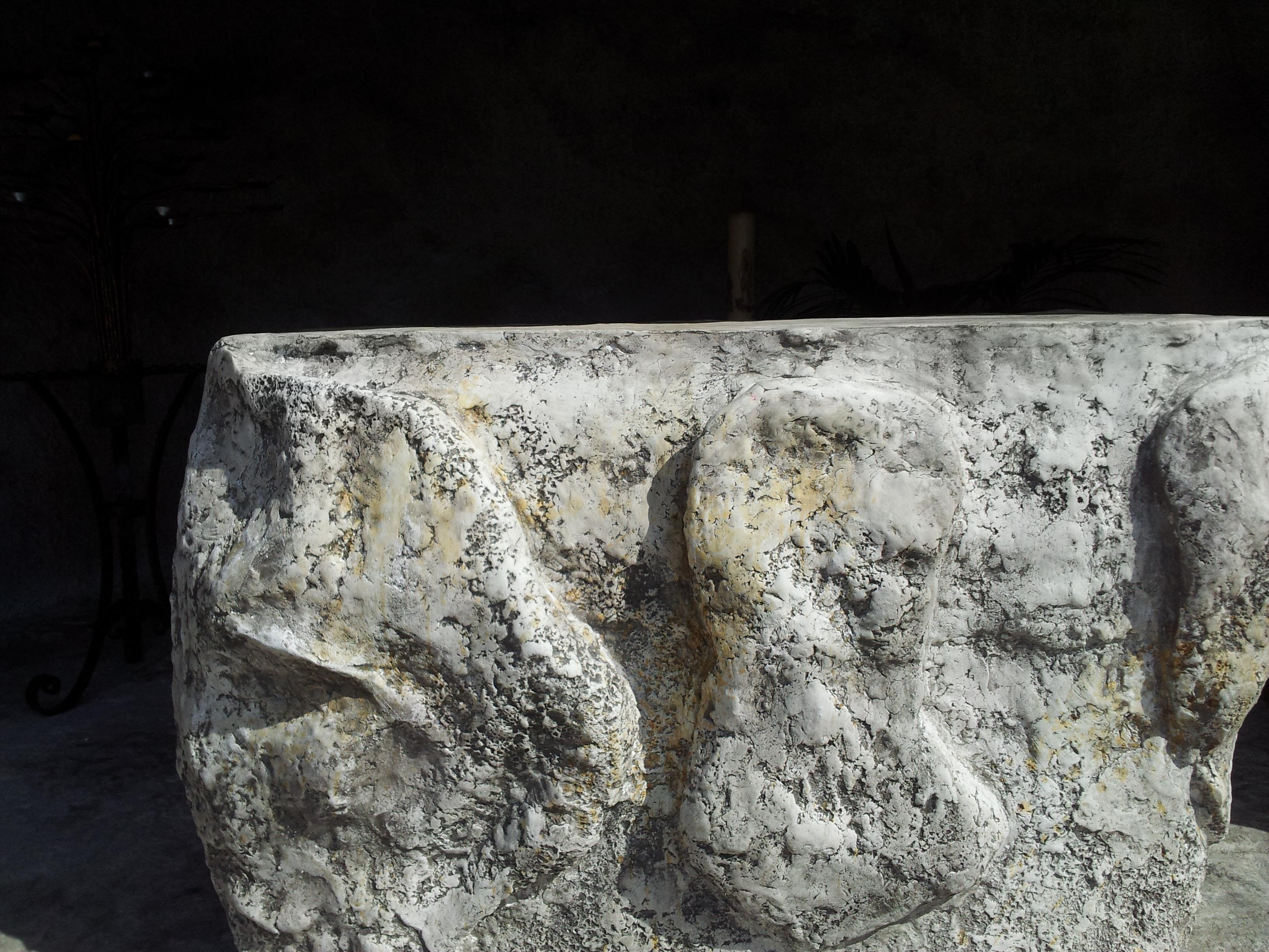 riproduzione grotta di Lourdes Madonna in roccia artificiale 5
