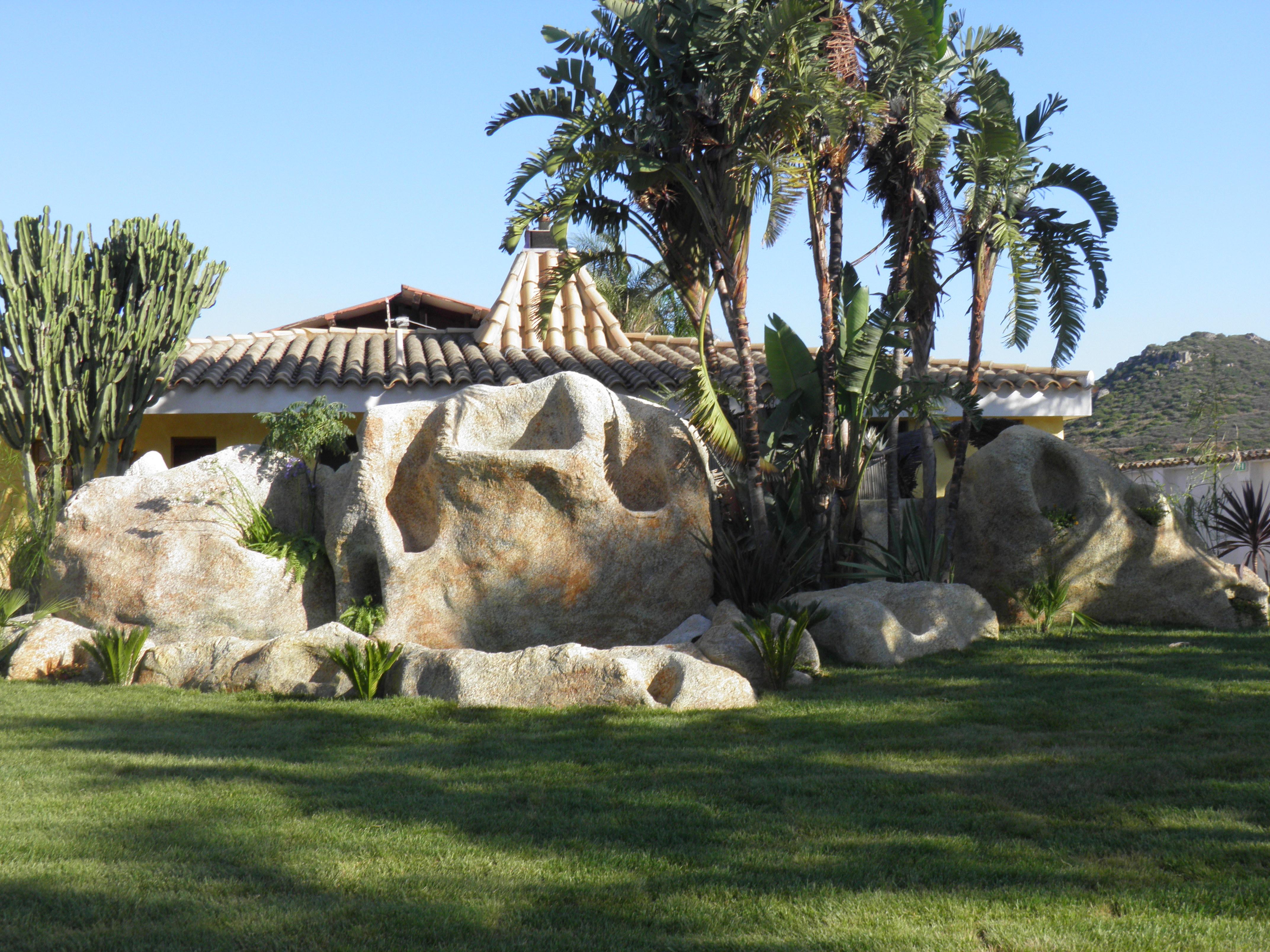 Rocce artificiali giardino