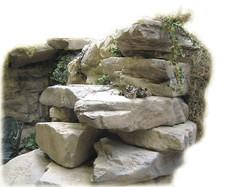 spa in artificial rock