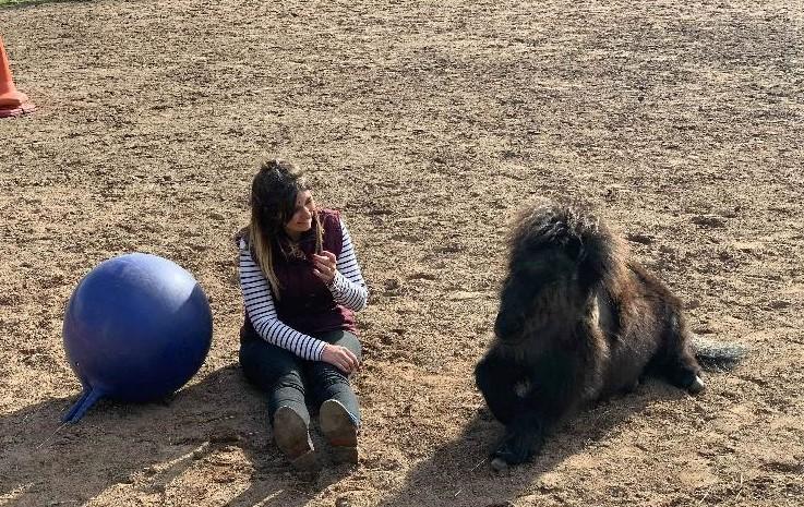 Jenna & Carly with Ball