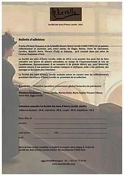Bulletin d'adhésion (PDF à télécharger)