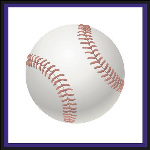 Colorado Baseball Schedule Postcard