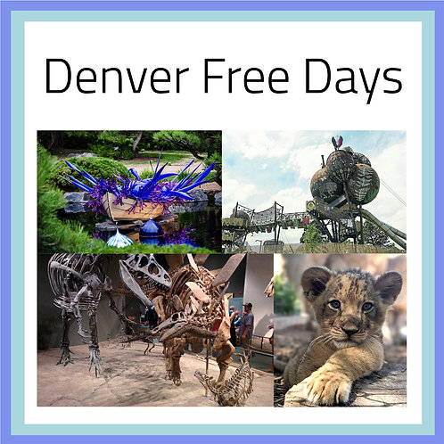 Denver Free Days Postcards