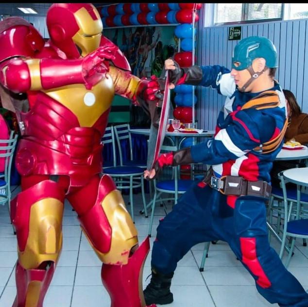 Homem de Ferro e Capitão América