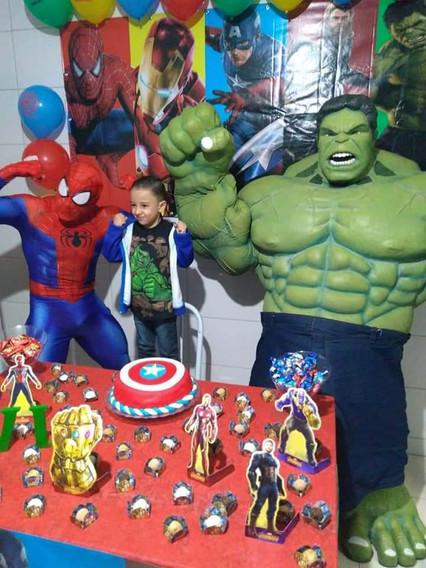 Homem Aranha e Hulk