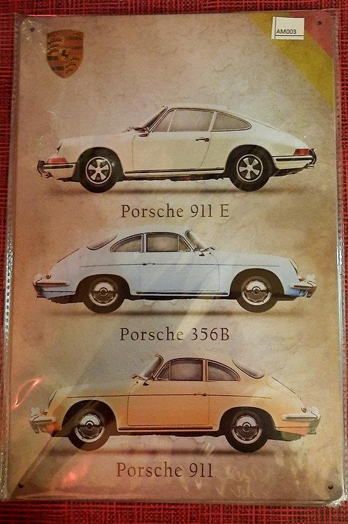 Metaalplaat Porsche  AM003