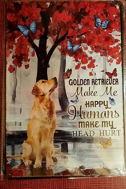 Golden retriever Makes me happy  KE003