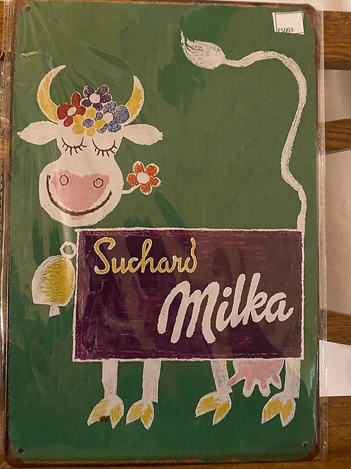 Reclame plaat Milka