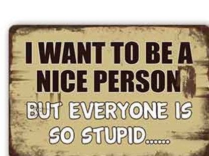 I want to be a nice person  TH8817