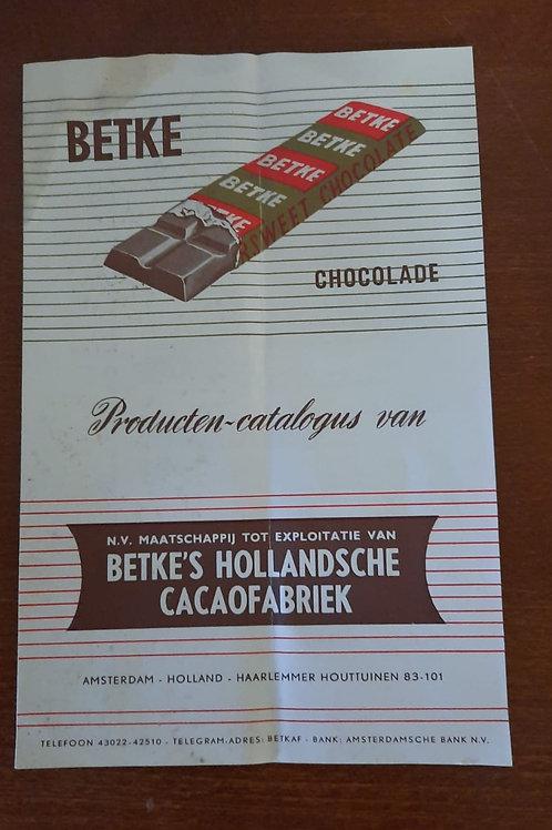 reclamefolder Betke Chocolade