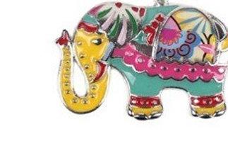 Sleutelhanger geëmailleerd olifant  HK609