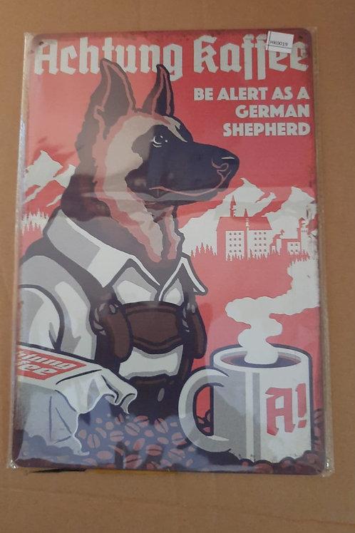 Duitse Herdershond Achtung Kaffee  HK0019