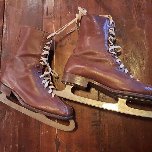 Oude Heren schaatsen met leren schoen Triumphator