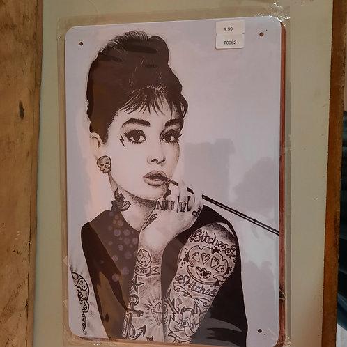 Tattoo T062  Audry Hepburn