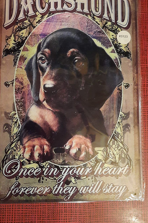 Dachshund  Once in your heart  K0123