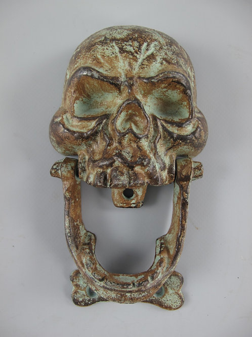 deurklopper schedel groen    Gietijzer 326.084gr