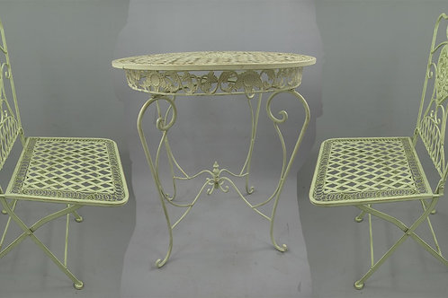 Tuinset 2x stoel & tafel (66cm) wit 122.300W