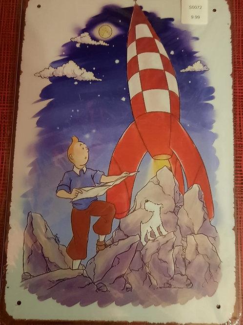 Kuifje met raket  S0072