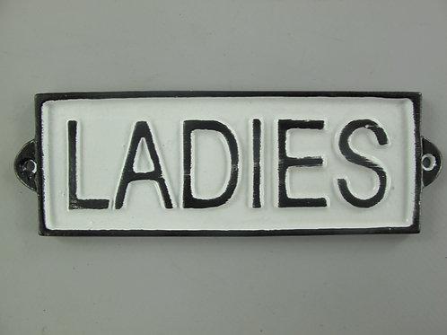 WC bordje gietijzer Ladies  265.135