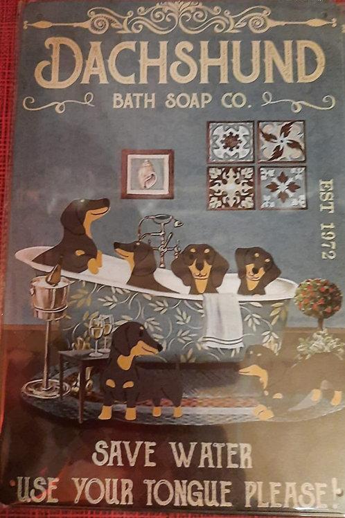 Dachshund Bath Soap & Co  HK0122