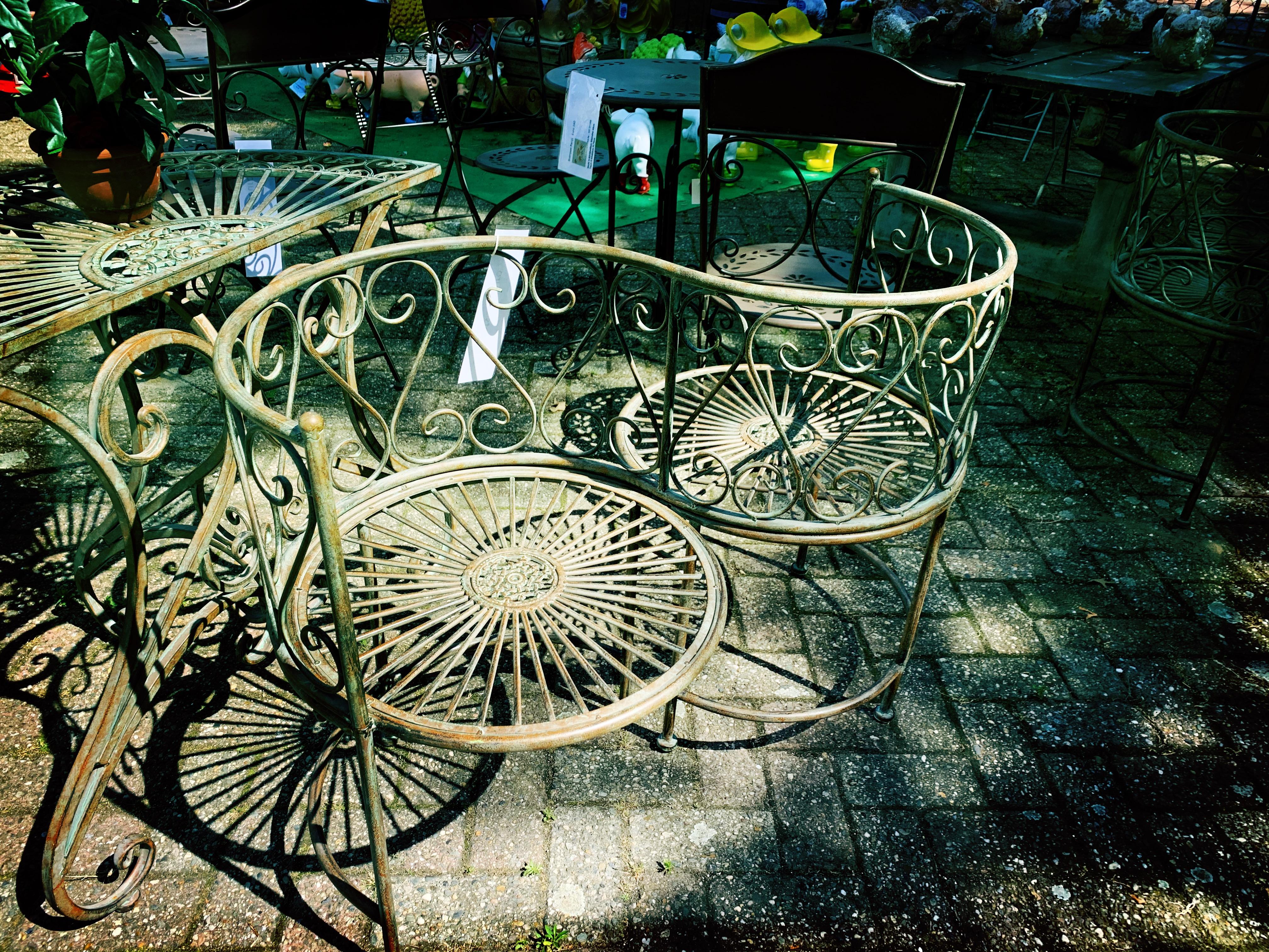romantisch antiek zitje tuinmeubel