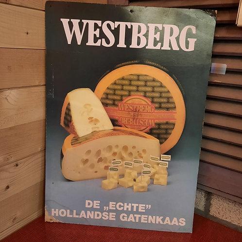 Reclame Plaat Westberg Gatenkaas