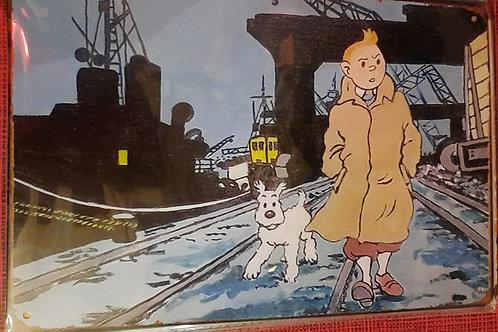 Kuifje en Bobby in de haven K0026