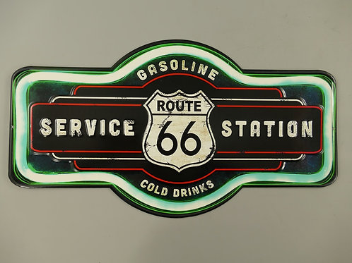Gestanst bord Route 66 Gasoline 321Y78