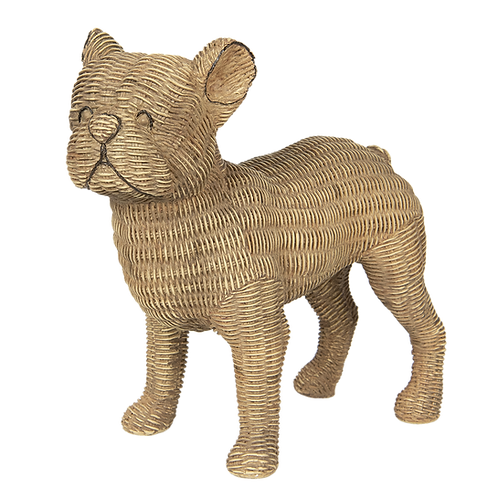 Decoratie Hond in Rotan look  Buldogg 6PR2925