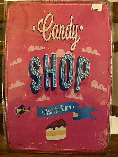 Reclameplaat Candy Shop ES 008