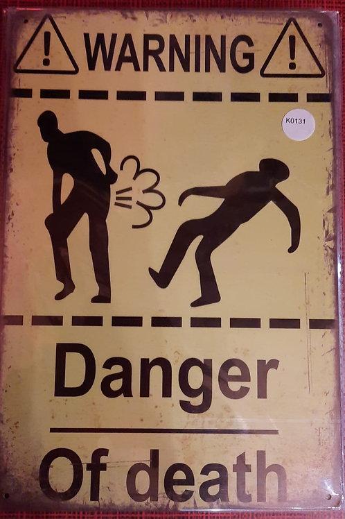 Warning Danger of death  K0131