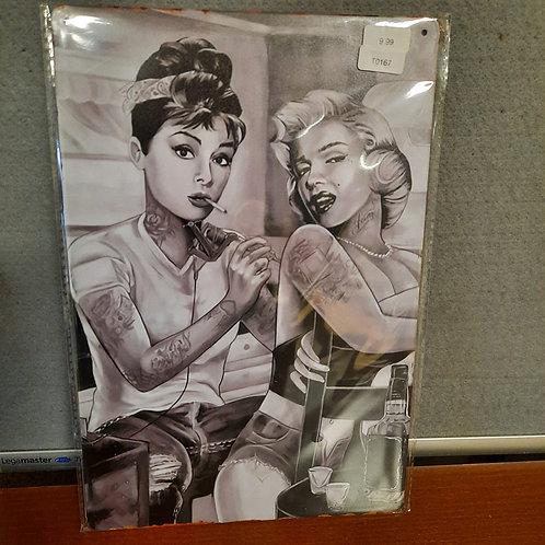 Marilyn Monroe en Audry Hepburn Tattoo  T0167