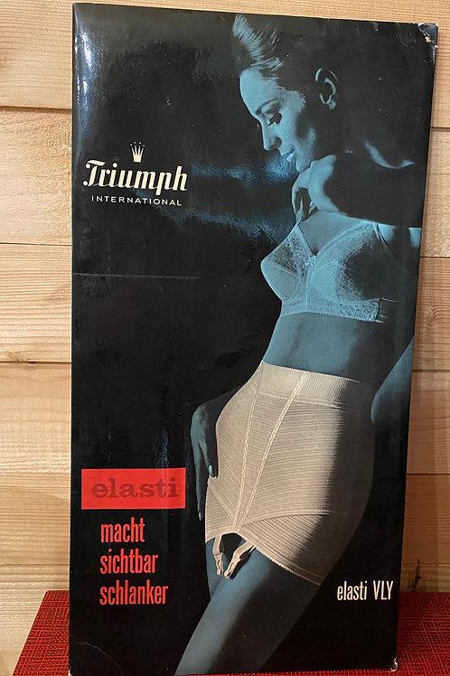 Oude reclame display Triumph Elasti nr 5