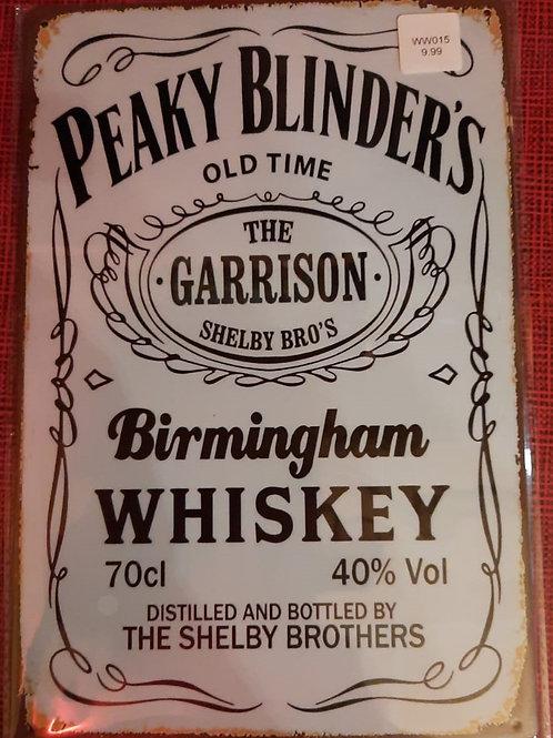 Peaky Blinders Whiskey  WW015