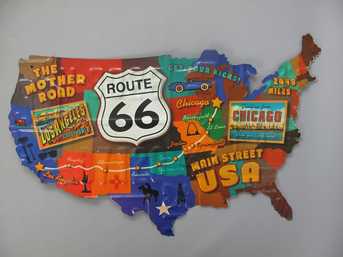 Wandbord Amerika Route 66 332.010