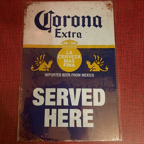 Corona served  here  HK0418