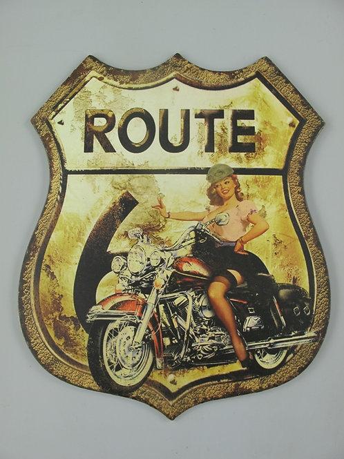 Route 66 Vrouw op motor 327.006