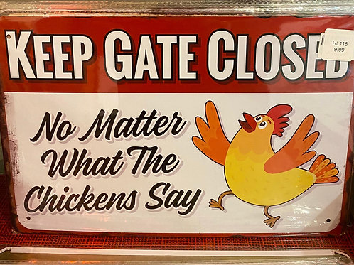 Keep the gate closed  HL75