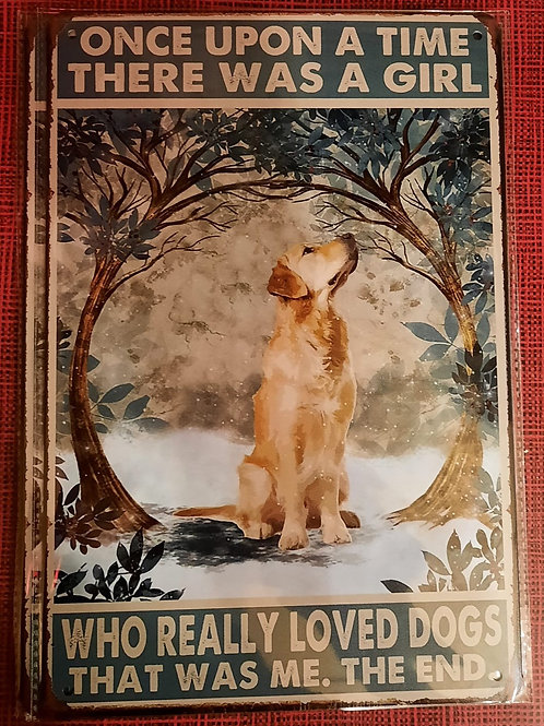 There was a girl who loved Golden retrievers  KE004