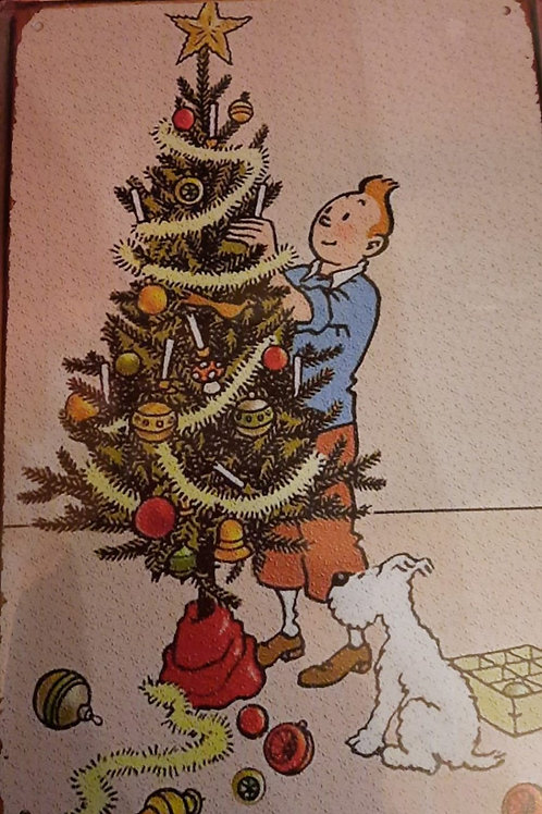 Kuifje met kerstboom  K0029