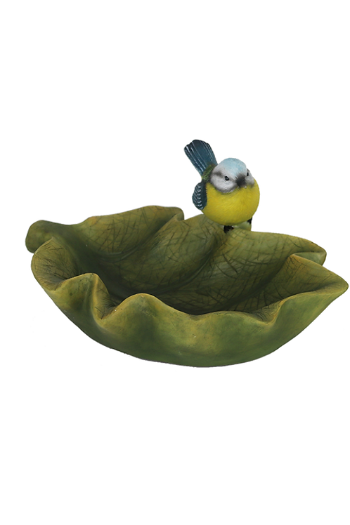Vogelbad in bladvorm 37000459G BINNENKORT LEVERBAAR