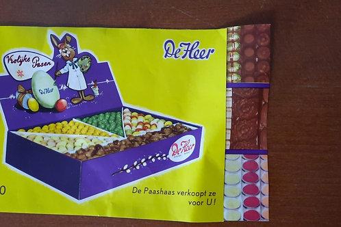 Kopie van reclamefolder De Heer Chocolade  1960