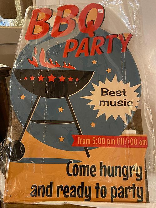 Reclameplaat BBQ Party  ES0018