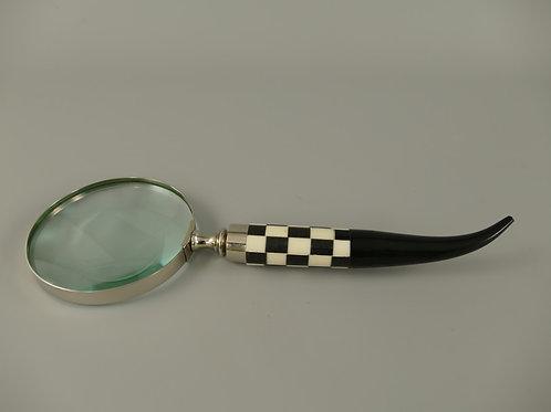 Vergrootglas zwart wit handvat