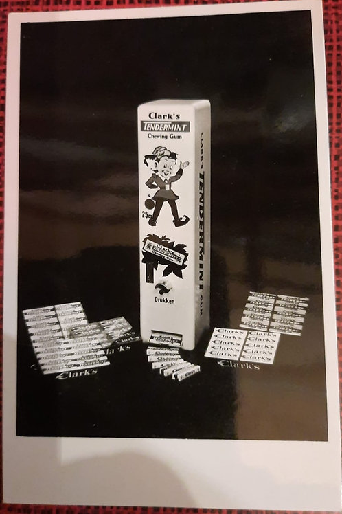 Clark's Tendermint Chewing Gum  reclamefoto