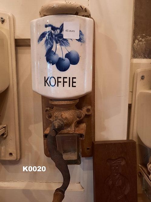 Oude koffiemolen Blauw wit K0020
