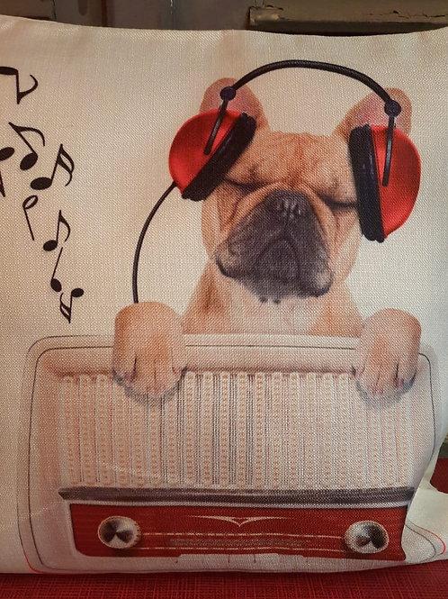 Bulldog DJ kussenhoes HK0119