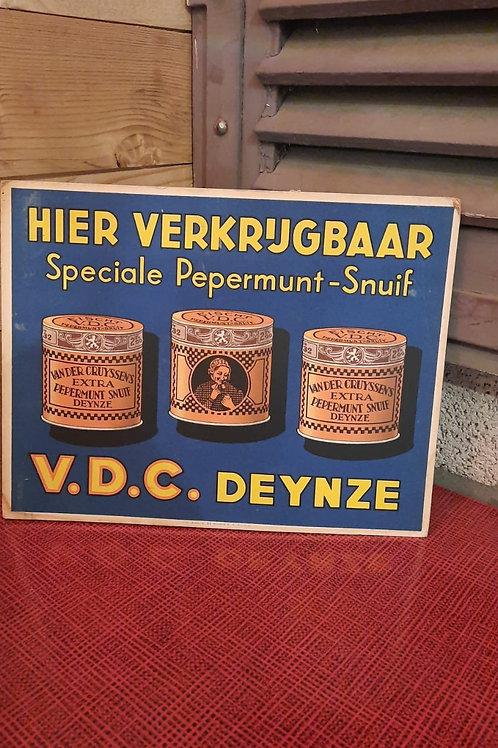 Toonbank display V.D.C Deynze Pepermuntsnuif