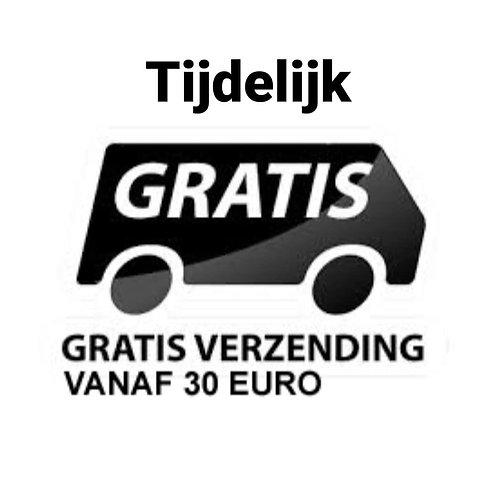 Bij aankoop vanaf 30 euro gratis verzending binnen Nederland