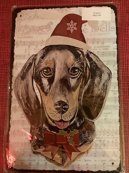 Teckel met kerstmuts HK0144